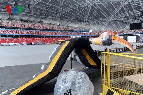 An egret will be flown around the National Stadium