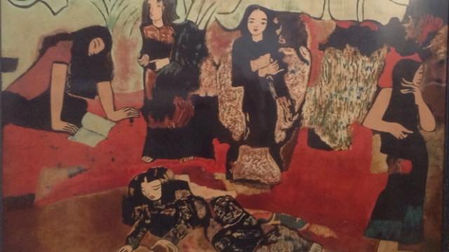 V°Ýn chuÑi - s¡n mài cça NguyÅn Sáng nm 1978 - ¢nh: Ông Vi Xuân Chung cung c¥p
